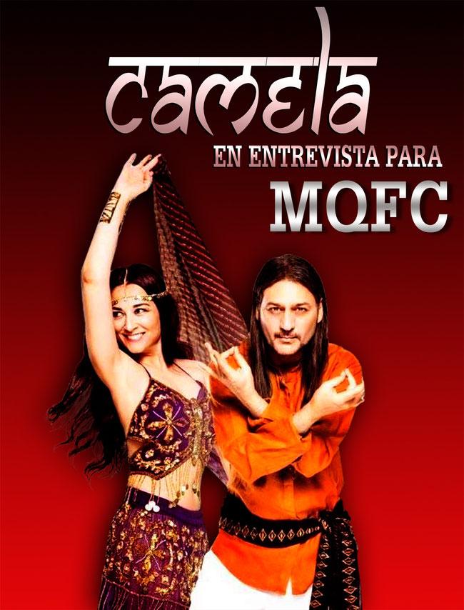 Angela Muñoz del  dúo Camela, también pasó poco antes del concierto en Chile 28F por los micros de MQFC