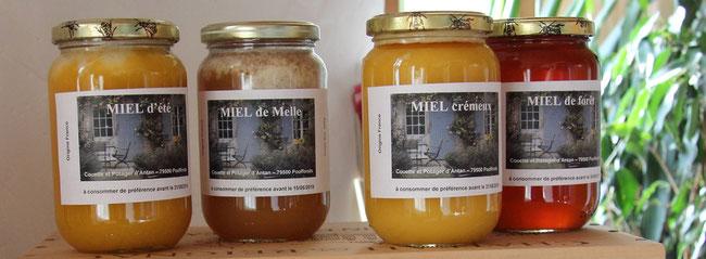 des pots de miel de miel et goûter d'antan en deux sevres 79