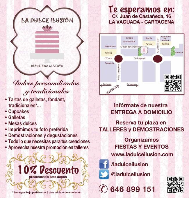 La dulce ilusión. Tartas de fondant y tradicionales en Cartagena. Repostería creativa, talleres, demostraciones, mesas dulces... en La Vaguada.