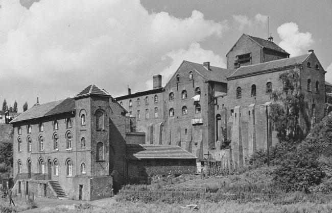 Die Tagebauten mit den Wohnungen - um 1960 (Quelle: Heimatverein Kohlscheid)