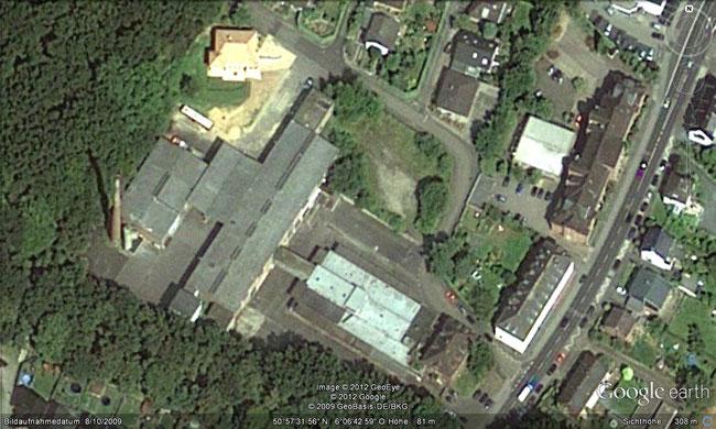 2009 kann man noch alle Gebäude sehen (c) Google Earth