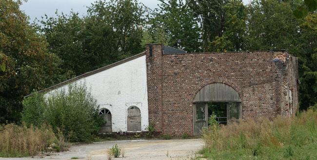 Rest des alten Schachtgebäudes am 20.09.2020