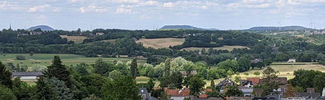 Blick von Aachen Richtung Alsdorf