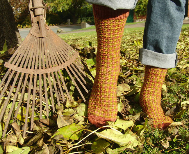Gentlemen's Hunting Socks aus dem Magazin Jane Austen Knits, Fall 2015