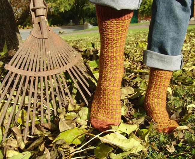 Gentlemen's Hunting Socks aus dem Magazin Jane Austen Knits, Fall 2015