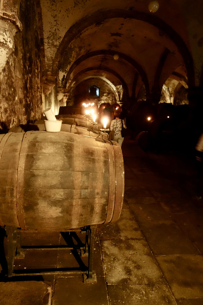 The historic Cabinett Cellar at Abbey Eberbach
