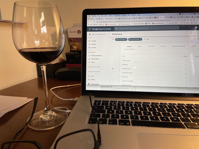 Wine Tour Operator - home office!  Wine - Mac - Office