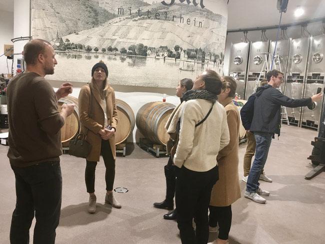 in Weingart's new wine cellar - Spay, Mittelrhein valley