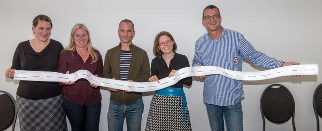 """""""Unsere"""" Jury 2014 nach getaner Arbeit mit allen 24 Themen des diesjährigen Marathons!"""