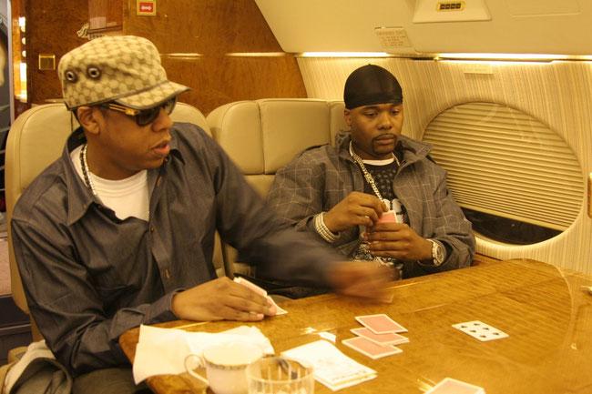 Jay-Z on G5 jet