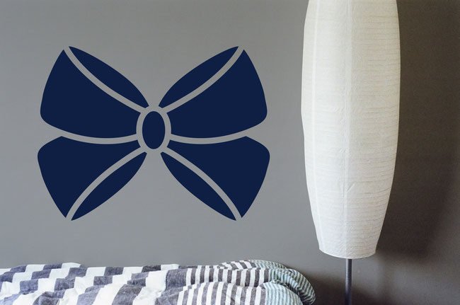 Joanne Ribbon Bow wall art sticker for decorating girl's bedrooms and making them look very pretty.