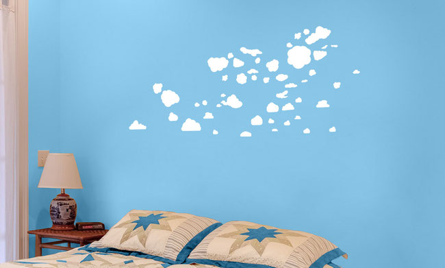 Mixed pack sizes of vinyl Clouds to make your own interesting designs. They come in many colours and stick on flat smooth surfaces. Great for being spontaneously creative.