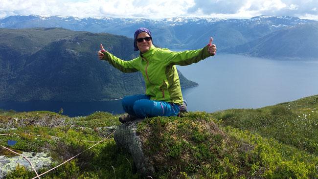 Nicole Heppert HappyHeppert Norwegen Sognefjord