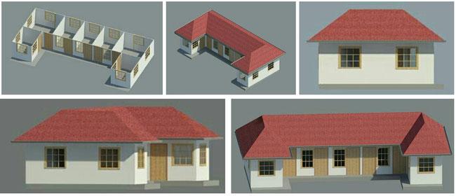 Son of LIghtがデザインした新校舎には派遣教師が寝泊まりする部屋も設けられている
