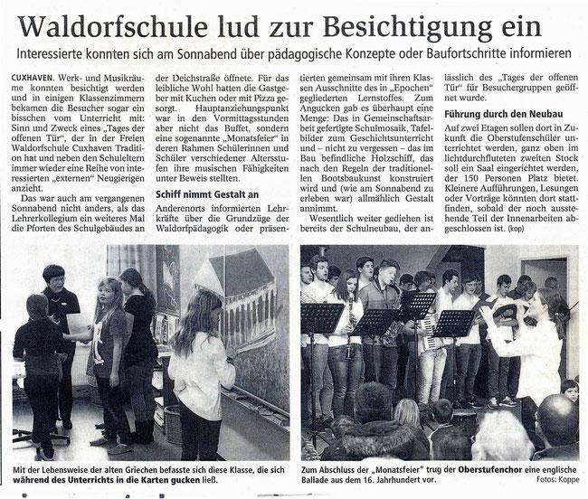Cuxhavener Nachrichten, 25.2.2014