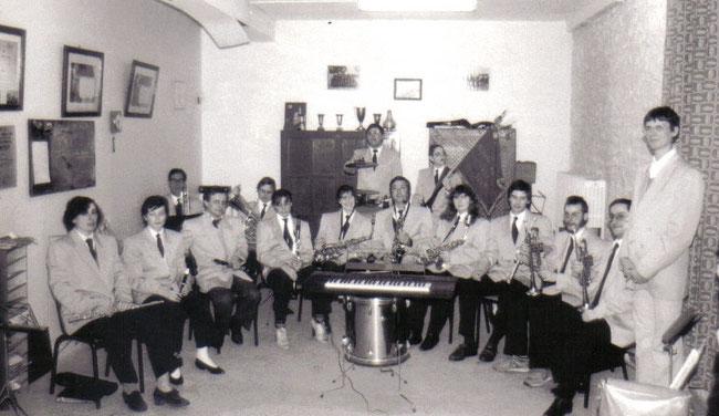 L'harmonie en répétition en 1984