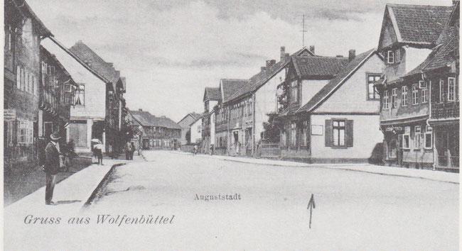 Die breiteste Straße in der Auguststadt war die Hauptstraße, die heutige Dr. Heinrich Jasperstraße.