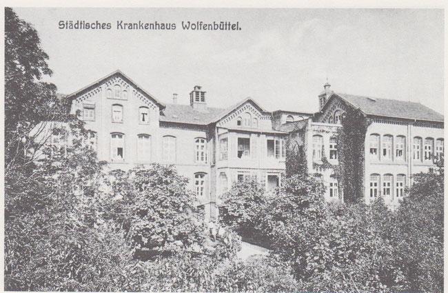 Rückansicht des Krankenhauses in der Jägerstraße.