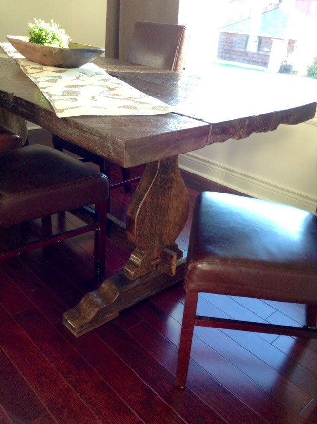 Trestle table violin base