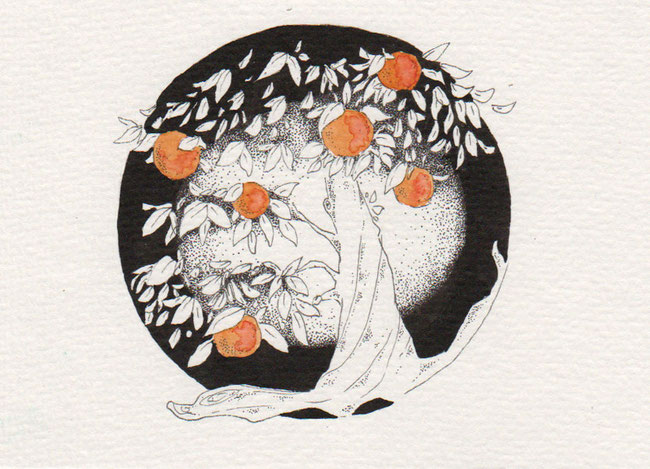 365-Tage-Doodle-Challenge - Stichwort: Pfirsich