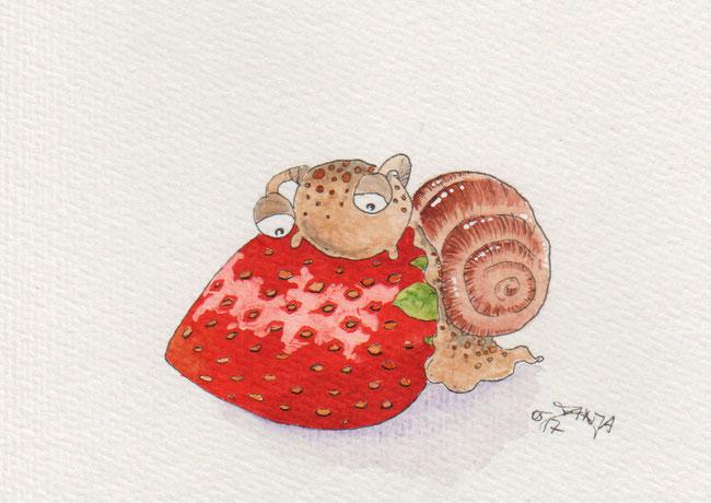 365-Tage-Doodle-Challenge - Stichwort: Erdbeere