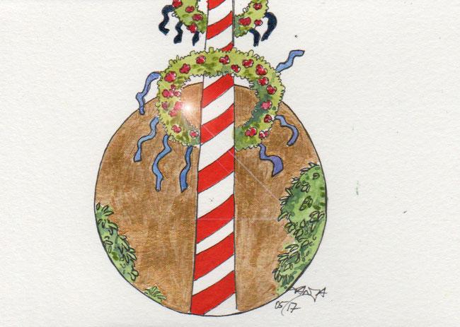 365-Tage-Doodle-Challenge - Stichwort: Maibaum