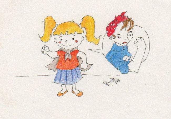 365-Tage-Doodle-Challenge - Stichwort: Girl Power