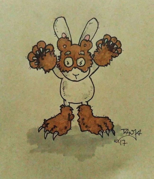 Zeichnung für die 365-Tage-Doodle-Challenge zum Thema: Monster.
