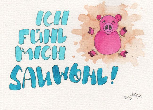 365-Tage-Doodle-Challenge - Stichwort: Schwein