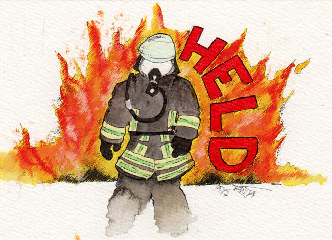 365-Tage-Doodle-Challenge - Stichwort: Feuerwehrmann