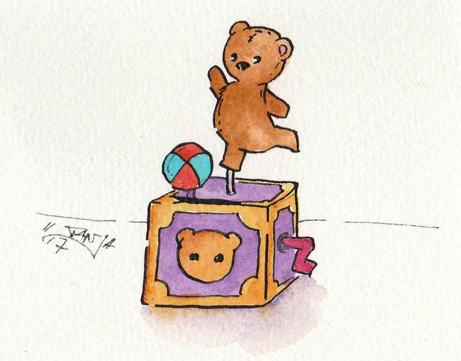 """Zeichnung zum Thema """"Spieluhr"""" für die 365-Tage-Doodle-Challenge."""