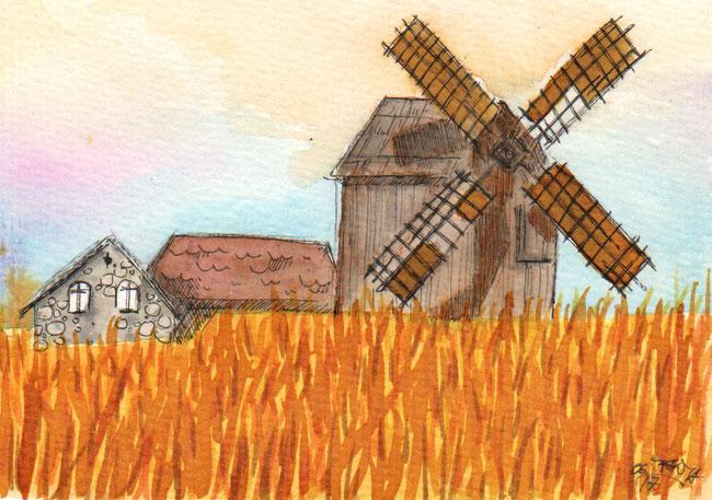 365-Tage-Doodle-Challenge - Stichwort: Windmühle