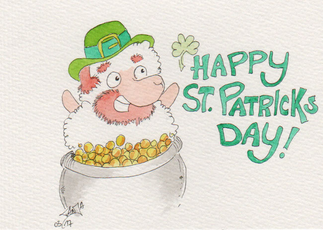 365-Tage-Doodle-Challenge - Stichwort: St Patricks Day