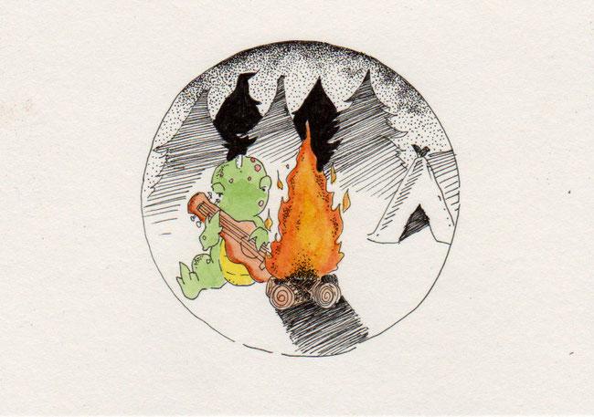 365-Tage-Doodle-Challenge - Stichwort: Feuerholz