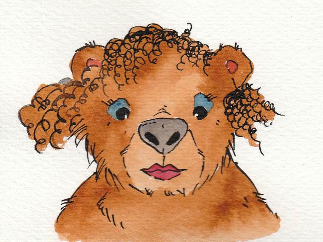 """Zeichnung zum Thema """"Schminke"""" für die 365-Tage-Doodle-Challenge."""