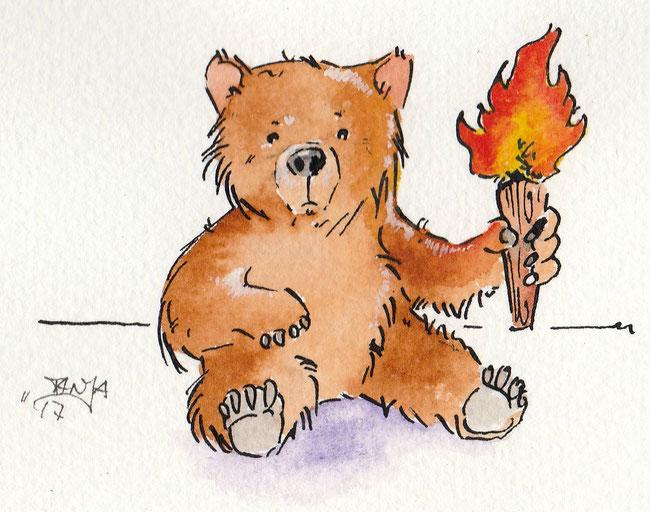 """Zeichnung zum Thema """"Fackel"""" für die 365-Tage-Doodle-Challenge."""
