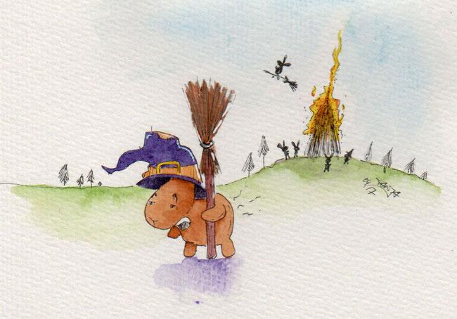 365-Tage-Doodle-Challenge - Stichwort: Walpurgisnacht