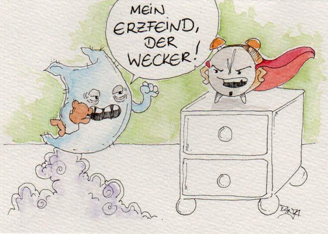 365-Tage-Doodle-Challenge - Stichwort: Wecker
