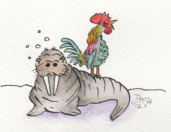 """Zeichnung zum Thema """"Wecker"""" für die 365-Tage-Doodle-Challenge."""