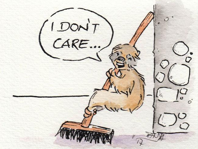"""Zeichnung zum Thema """"Kehrwoche"""" für die 365-Tage-Doodle-Challenge."""