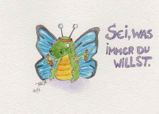 365-Tage-Doodle-Challenge - Stichwort: Schmetterling