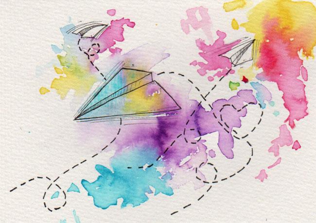 365-Tage-Doodle-Challenge - Stichwort: Papierflieger