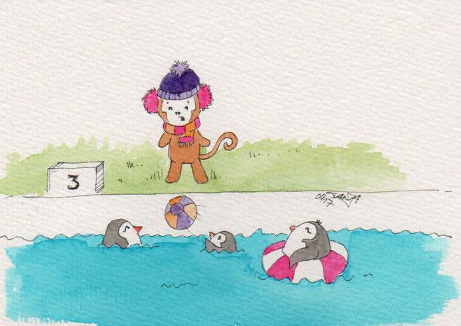 365-Tage-Doodle-Challenge - Stichwort: Freibad