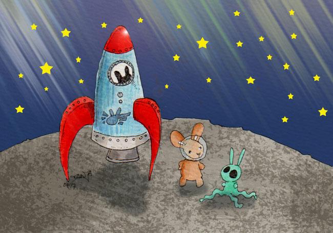 365-Tage-Doodle-Challenge - Stichwort: Rakete