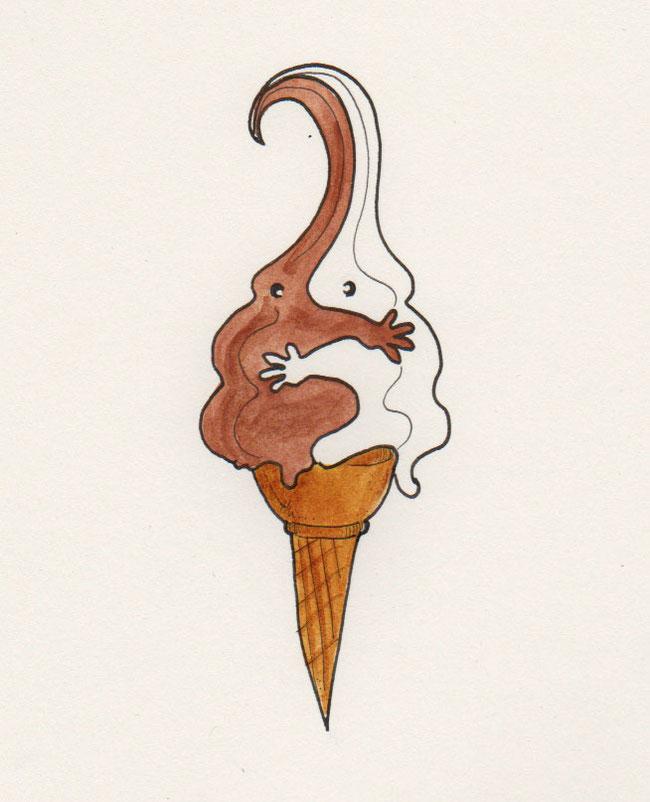 365-Tage-Doodle-Challenge - Stichwort: Schokoladeneis