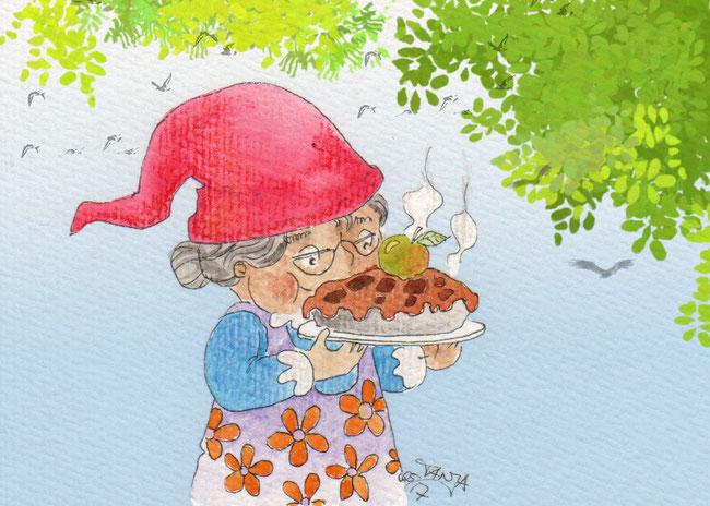 365-Tage-Doodle-Challenge - Stichwort: Apfelkuchen