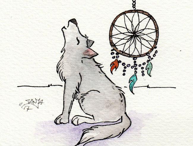 """Zeichnung zum Thema """"Traumfänger"""" für die 365-Tage-Doodle-Challenge."""