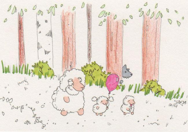 365-Tage-Doodle-Challenge - Stichwort: Spaziergang im Park