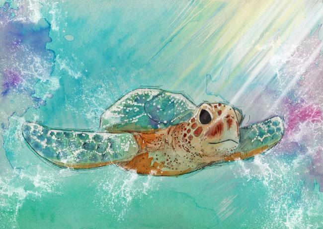 365-Tage-Doodle-Challenge - Stichwort: Schildkröte