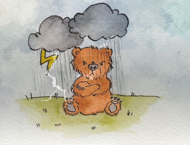 """Zeichnung zum Thema """"Wolke"""" für die 365-Tage-Doodle-Challenge."""
